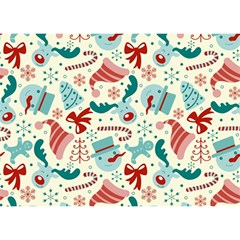 Pattern Christmas Elements Seamless Vector       Birthday Cake 3d Greeting Card (7x5)