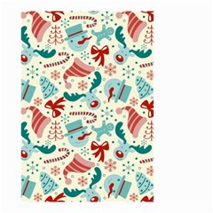 Pattern Christmas Elements Seamless Vector       Small Garden Flag (two Sides)