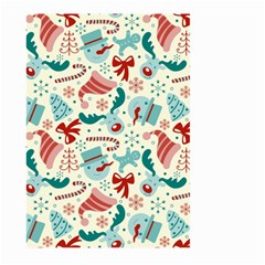 Pattern Christmas Elements Seamless Vector       Large Garden Flag (two Sides)