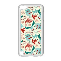 Pattern Christmas Elements Seamless Vector       Apple Ipod Touch 5 Case (white)