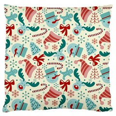 Pattern Christmas Elements Seamless Vector       Standard Flano Cushion Case (two Sides)
