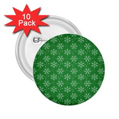 Snowflake Vector Pattern 2 25  Buttons (10 Pack)