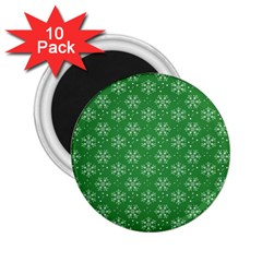 Snowflake Vector Pattern 2 25  Magnets (10 Pack)