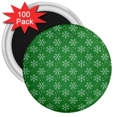 Snowflake Vector Pattern 3  Magnets (100 Pack)