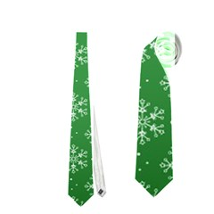 Snowflake Vector Pattern Neckties (one Side)
