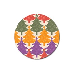 Tree Christmas Pattern Magnet 3  (round)