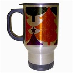 Tree Christmas Pattern Travel Mug (silver Gray)
