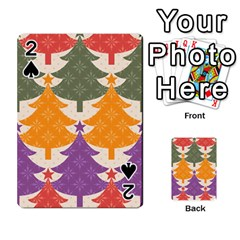 Tree Christmas Pattern Playing Cards 54 Designs
