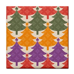 Tree Christmas Pattern Face Towel