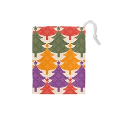 Tree Christmas Pattern Drawstring Pouches (small)