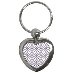 Simple Christmas Pattern Seamless Vectors  Key Chains (heart)