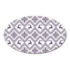 Simple Christmas Pattern Seamless Vectors  Oval Magnet