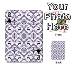 Simple Christmas Pattern Seamless Vectors  Playing Cards 54 Designs