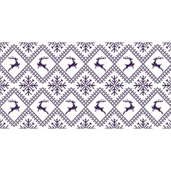 Simple Christmas Pattern Seamless Vectors  You Are Invited 3d Greeting Card (8x4)