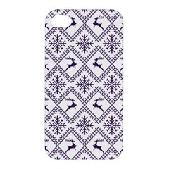 Simple Christmas Pattern Seamless Vectors  Apple Iphone 4/4s Hardshell Case