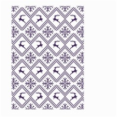 Simple Christmas Pattern Seamless Vectors  Large Garden Flag (two Sides)