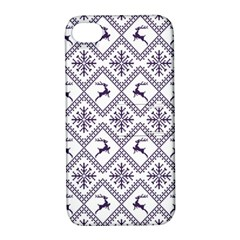 Simple Christmas Pattern Seamless Vectors  Apple Iphone 4/4s Hardshell Case With Stand