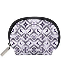 Simple Christmas Pattern Seamless Vectors  Accessory Pouches (small)