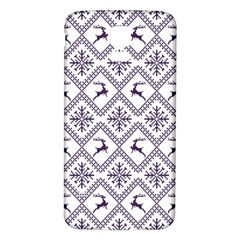Simple Christmas Pattern Seamless Vectors  Samsung Galaxy S5 Back Case (white)