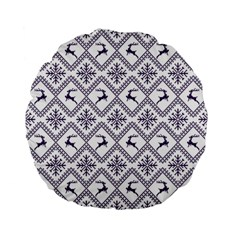 Simple Christmas Pattern Seamless Vectors  Standard 15  Premium Flano Round Cushions