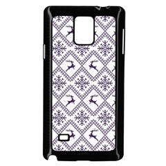 Simple Christmas Pattern Seamless Vectors  Samsung Galaxy Note 4 Case (black)