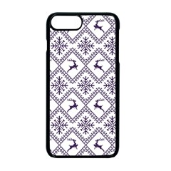 Simple Christmas Pattern Seamless Vectors  Apple iPhone 7 Plus Seamless Case (Black)
