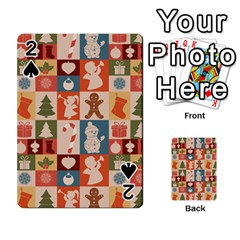 Xmas  Cute Christmas Seamless Pattern Playing Cards 54 Designs