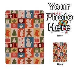 Xmas  Cute Christmas Seamless Pattern Multi-purpose Cards (Rectangle)