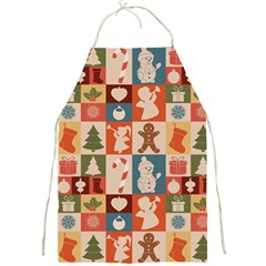 Xmas  Cute Christmas Seamless Pattern Full Print Aprons