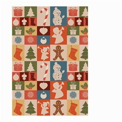Xmas  Cute Christmas Seamless Pattern Small Garden Flag (two Sides)