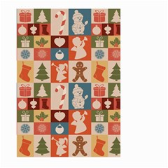 Xmas  Cute Christmas Seamless Pattern Large Garden Flag (two Sides)