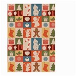 Xmas  Cute Christmas Seamless Pattern Large Garden Flag (Two Sides) Back