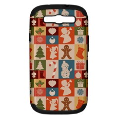 Xmas  Cute Christmas Seamless Pattern Samsung Galaxy S Iii Hardshell Case (pc+silicone)