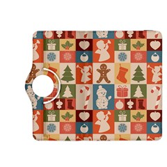 Xmas  Cute Christmas Seamless Pattern Kindle Fire Hdx 8 9  Flip 360 Case