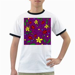 Ladybugs - purple Ringer T-Shirts