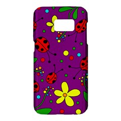 Ladybugs - purple Samsung Galaxy S7 Hardshell Case
