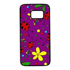Ladybugs - purple Samsung Galaxy S7 Black Seamless Case