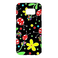 Flowers and ladybugs Samsung Galaxy S7 Edge Hardshell Case
