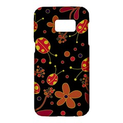 Flowers And Ladybugs 2 Samsung Galaxy S7 Hardshell Case