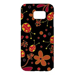 Flowers and ladybugs 2 Samsung Galaxy S7 Edge Hardshell Case