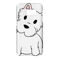 Westie Cartoon Samsung Galaxy S7 Hardshell Case