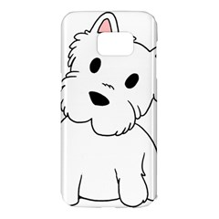 Westie Cartoon Samsung Galaxy S7 Edge Hardshell Case