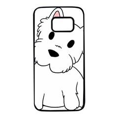 Westie Cartoon Samsung Galaxy S7 Black Seamless Case