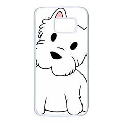 Westie Cartoon Samsung Galaxy S7 White Seamless Case
