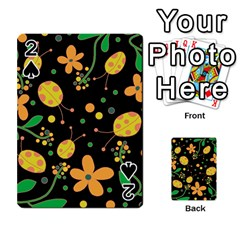 Ladybugs And Flowers 3 Playing Cards 54 Designs