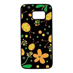 Ladybugs And Flowers 3 Samsung Galaxy S7 Black Seamless Case