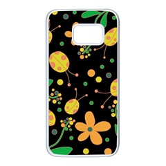 Ladybugs and flowers 3 Samsung Galaxy S7 White Seamless Case