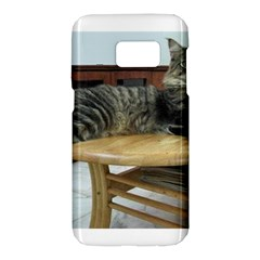 Maine Coon Laying 2 Samsung Galaxy S7 Hardshell Case
