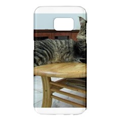 Maine Coon Laying 2 Samsung Galaxy S7 Edge Hardshell Case