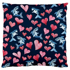 Shark Lover Large Cushion Case (two Sides)
